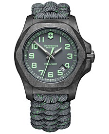 Men's I.N.O.X. Carbon Gray Paracord Strap Watch 43mm