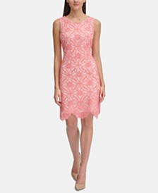 Tommy Hilfiger Medallion Lace A-Line Dress
