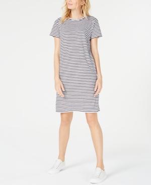Eileen Fisher Dresses ORGANIC LINEN STRIPED DRESS