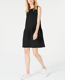 Eileen Fisher Drop-Waist Mini Tencel ™ Dress, Regular & Petite