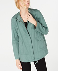 Eileen Fisher Organic Cotton Zip-Front Jacket