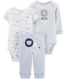 Carter's Baby Boys 3-Pc. Lion Graphic Cotton Bodysuits & Pants Set