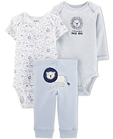 Carter's Baby Boys 3-Pc. Lion Graphic Cotton Bodysuits & Pants Set