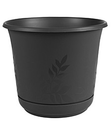 """Freesia 8"""" Planter with Saucer"""