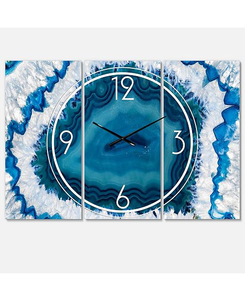 Design Art Designart Modern and Contemporary 3 Panels Metal Wall Clock