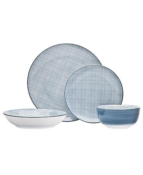 Godinger Varick Blue 16-PC Dinnerware Set, Service for 4