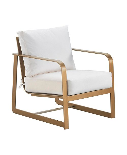 Elle Decor Mirabelle Outdoor Arm Chair, Quick Ship