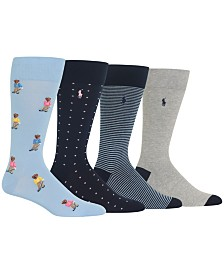 Polo Ralph Lauren Men's 4-Pk. Golfer Bears Socks