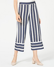 Juniors' Striped Cropped Pants