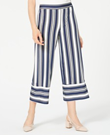 BCX Juniors' Striped Cropped Pants
