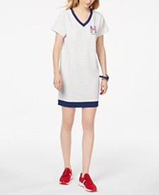 Tommy Hilfiger Sport V-Neck Logo Dress