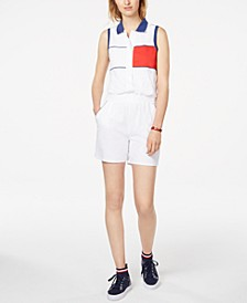 Sleeveless Polo Romper