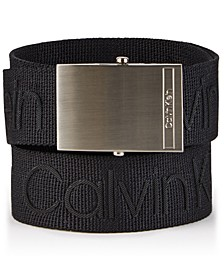 Men's Logo Webbing Belt