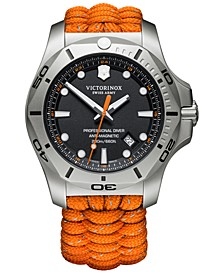 Men's I.N.O.X. Pro Diver Orange Paracord Strap Watch 45mm