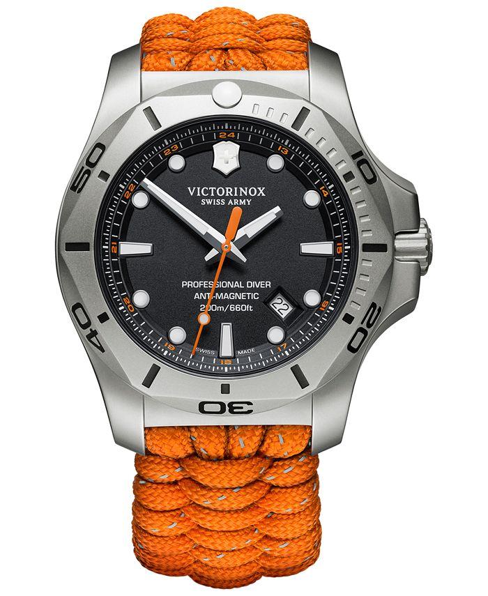 Victorinox Swiss Army - Men's I.N.O.X. Pro Diver Orange Paracord Strap Watch 45mm