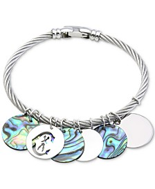 CHARRIOL Havana Abalone Bangle Bracelet in Stainless Steel and Sterling Silver