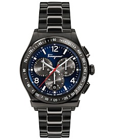 Men's Swiss Chronograph 1898 Gunmetal Ion-Plated Bracelet Watch 42mm