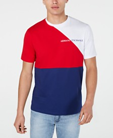 A|X Armani Exchange Men's Colorblocked Logo Graphic T-Shirt Created For Macy's