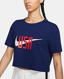 Women's Cotton Logo Cropped T-Shirt