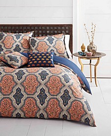Rhea Orange Comforter Bonus Set, Full/Queen