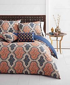 Rhea Orange Comforter Bonus Set, Full/Queen