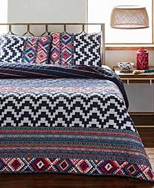 Kilim Stripe Quilt Set, Full/Queen