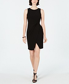 Petite Jersey Cutaway Wrap Dress