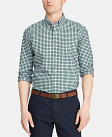 Polo Ralph Lauren Men's Slim Fit Plaid Cotton Poplin Shirt