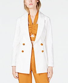 Finders Keepers Jada Belted Double-Breasted Blazer
