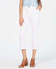 Petite Utility Pocket Capri Pants, Created for Macy's