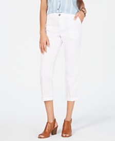Style & Co Petite Utility Pocket Capri Pants, Created for Macy's