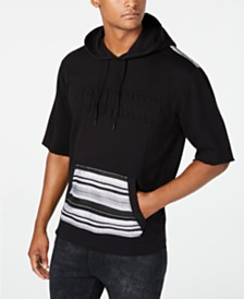GUESS Men's Stripe French Terry Baja Hoodie