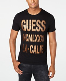 GUESS Men's Halftone Logo T-Shirt