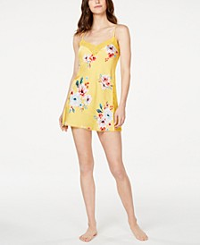 INC Floral-Print Lace-Trim Chemise Nightgown, Created for Macy's
