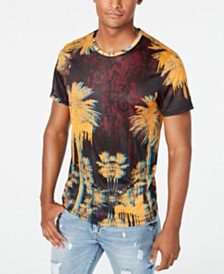 GUESS Men's Wynn Graffiti Palms Graphic T-Shirt