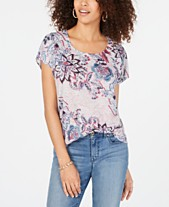 b4d1385c0f8 Style & Co Printed Short Sleeve T-Shirt, Created for Macy's