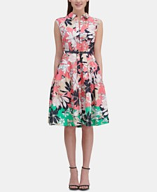 Tommy Hilfiger Floral Cotton Shirtdress