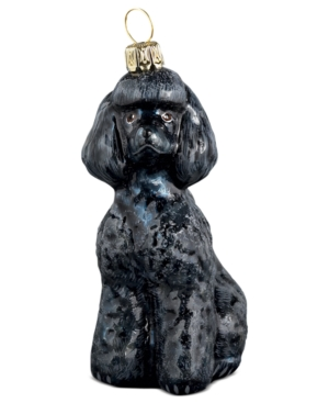 Joy to the World Black Toy Poodle Pet Charity Ornament