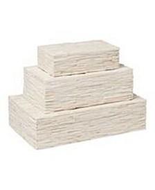 Chiseled Bone Storage Box Large