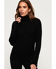 Croyde Roll Neck Cable Knit Jumper