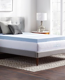 "Dream Collection 4"" Ventilated Gel Memory Foam Mattress Topper, Twin"