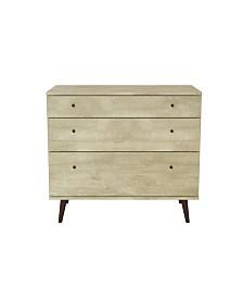 Mid-Century Wood 3 Drawer Dresser