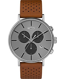 Timex Fairfield Chronograph Supernova 41mm Leather Strap Watch