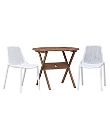 3 Piece Patio Dining Set Round