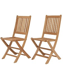 2 Piece Patio Dining Chair Set Folding