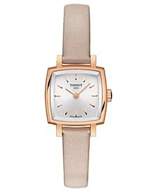 Women's Swiss T-Lady Lovely Pink Leather Strap Watch 20mm