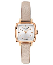 Tissot Women's Swiss T-Lady Lovely Pink Leather Strap Watch 20mm