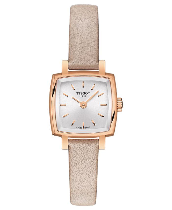 Tissot - Women's Swiss T-Lady Lovely Pink Leather Strap Watch 20mm