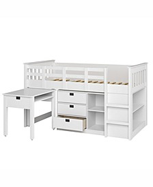 Madison 4pc All-in-One Single/Twin Loft Bed