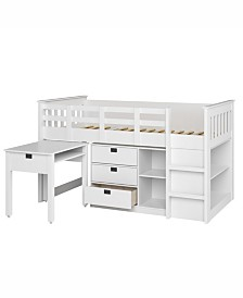 CorLiving Madison 4pc All-in-One Single/Twin Loft Bed